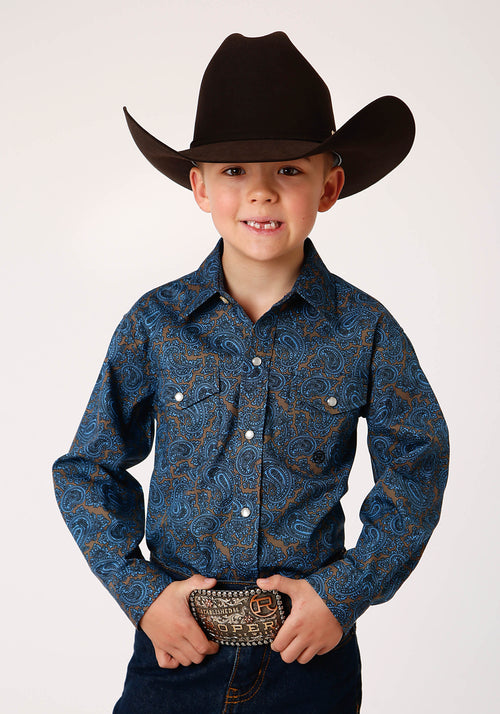 AMARILLO BOYS BLUE 00267 BLUE PAISLEY CEDAR BROOK