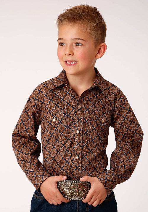 AMARILLO BOYS BROWN 00268 DIAMOND MEDALLION CEDAR BROOK