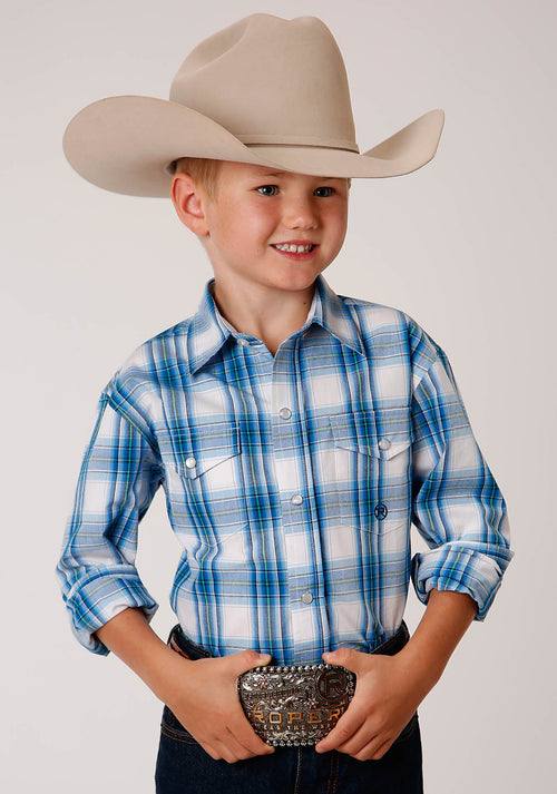 AMARILLO BOYS BLUE 00158 BLUE BROOK PLAID BLUE RIGE