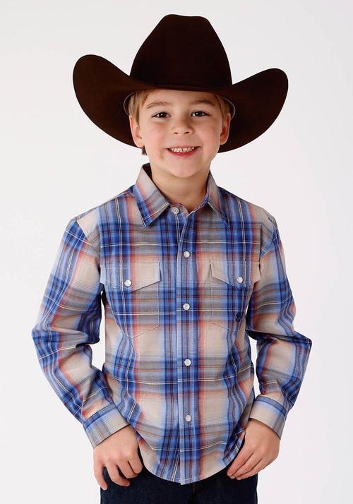 AMARILLO BOYS BLUE 9641 COPPER CREEK PLAID COPPER CREEK