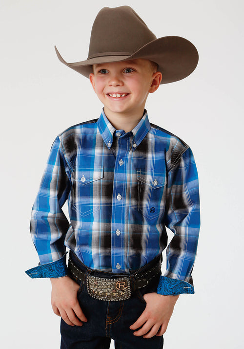 AMARILLO BOYS BLUE 1353 BLUE STAR PLAID STARLIGHT