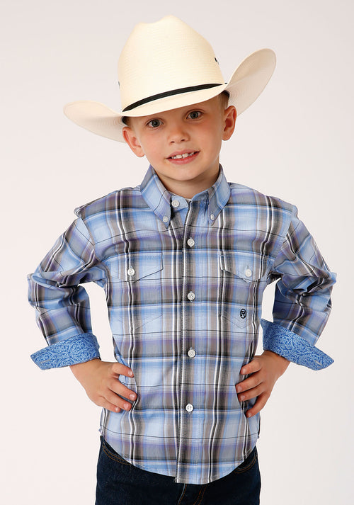 AMARILLO BOYS BLUE 00019 COOL BREEZE PLAID DUSK