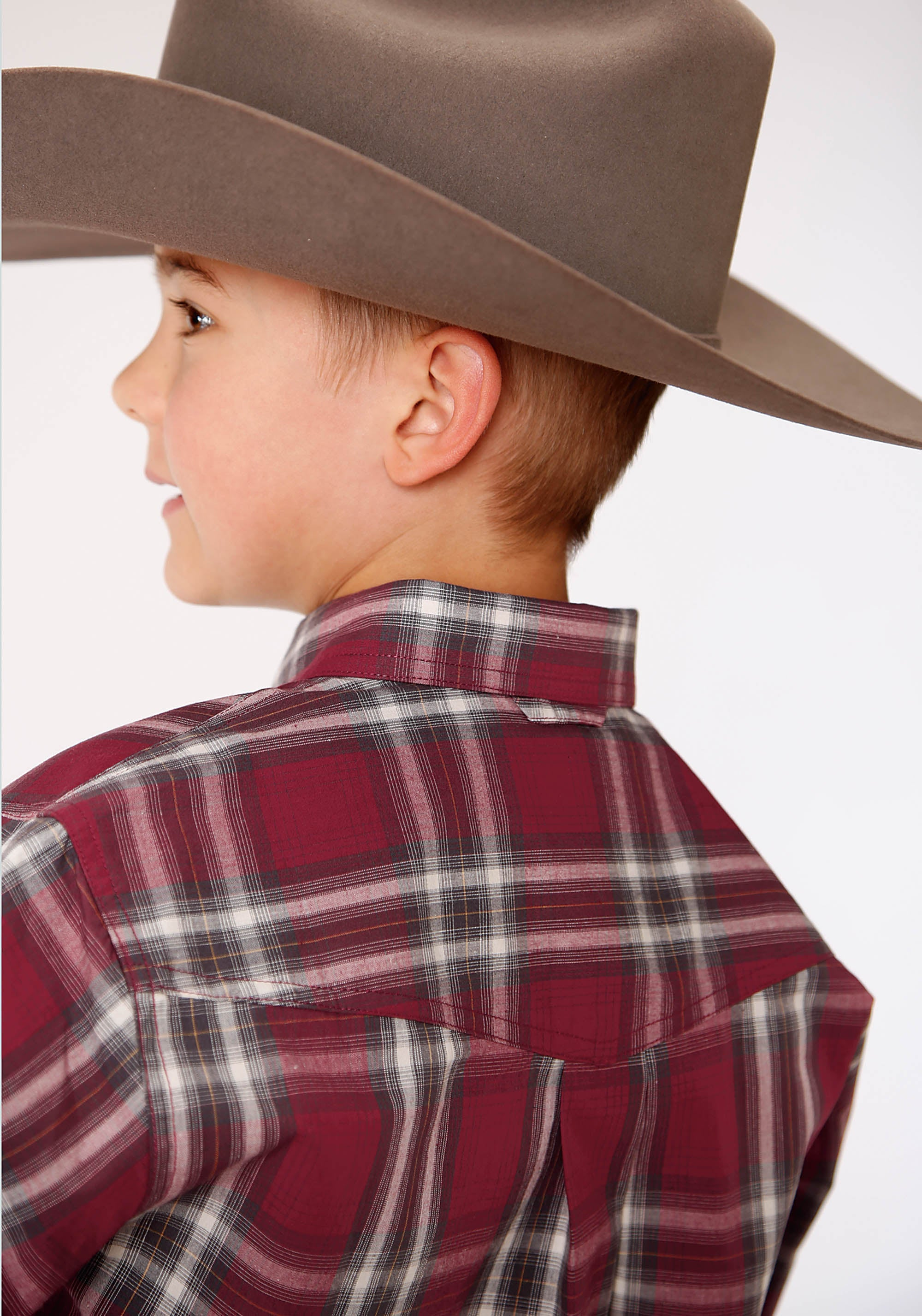AMARILLO BOYS RED 00273 RED ROCK PLAID RED RIDGE