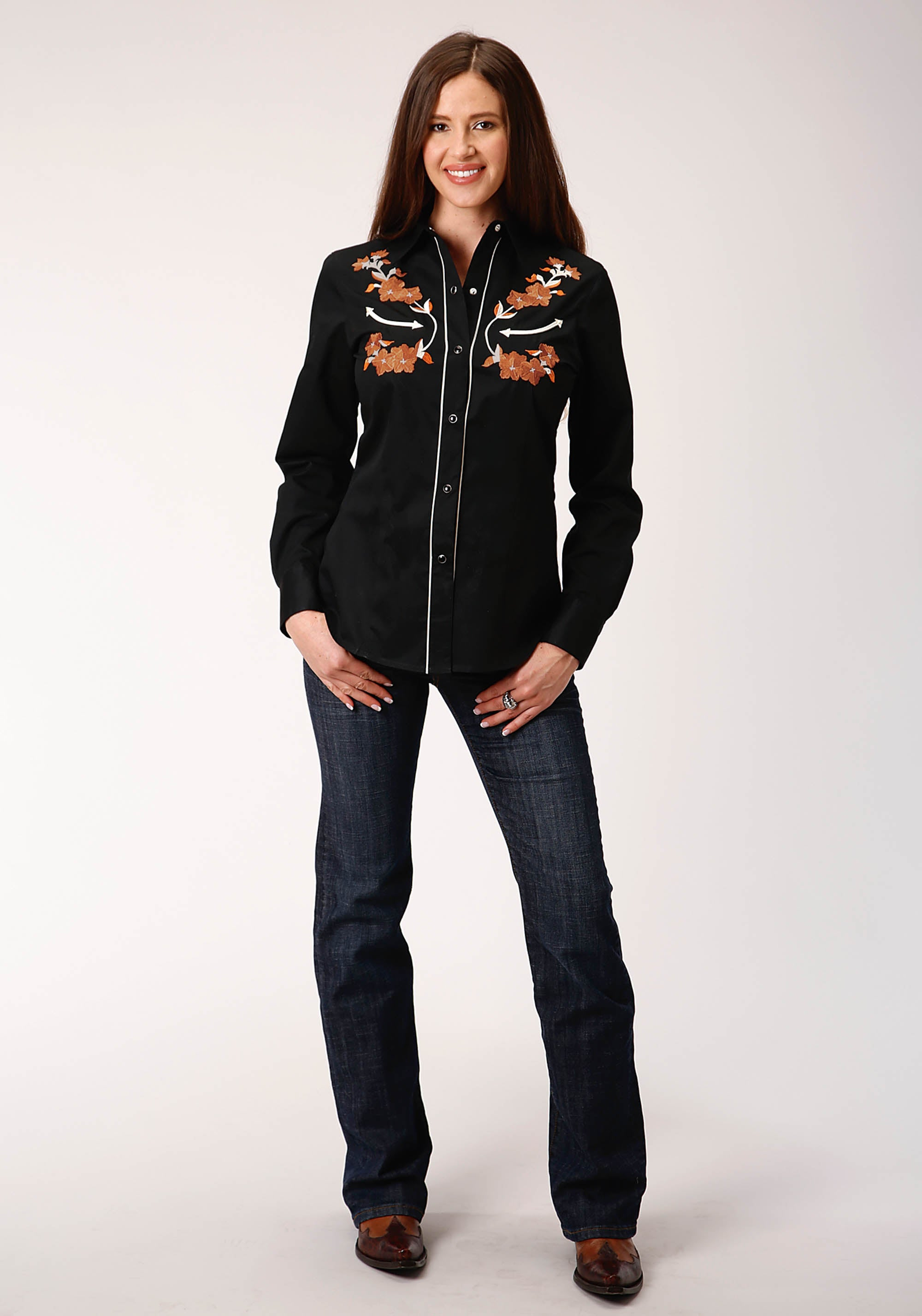 OLD WEST WOMENS BLACK 00351 OLD WEST COLLECTION