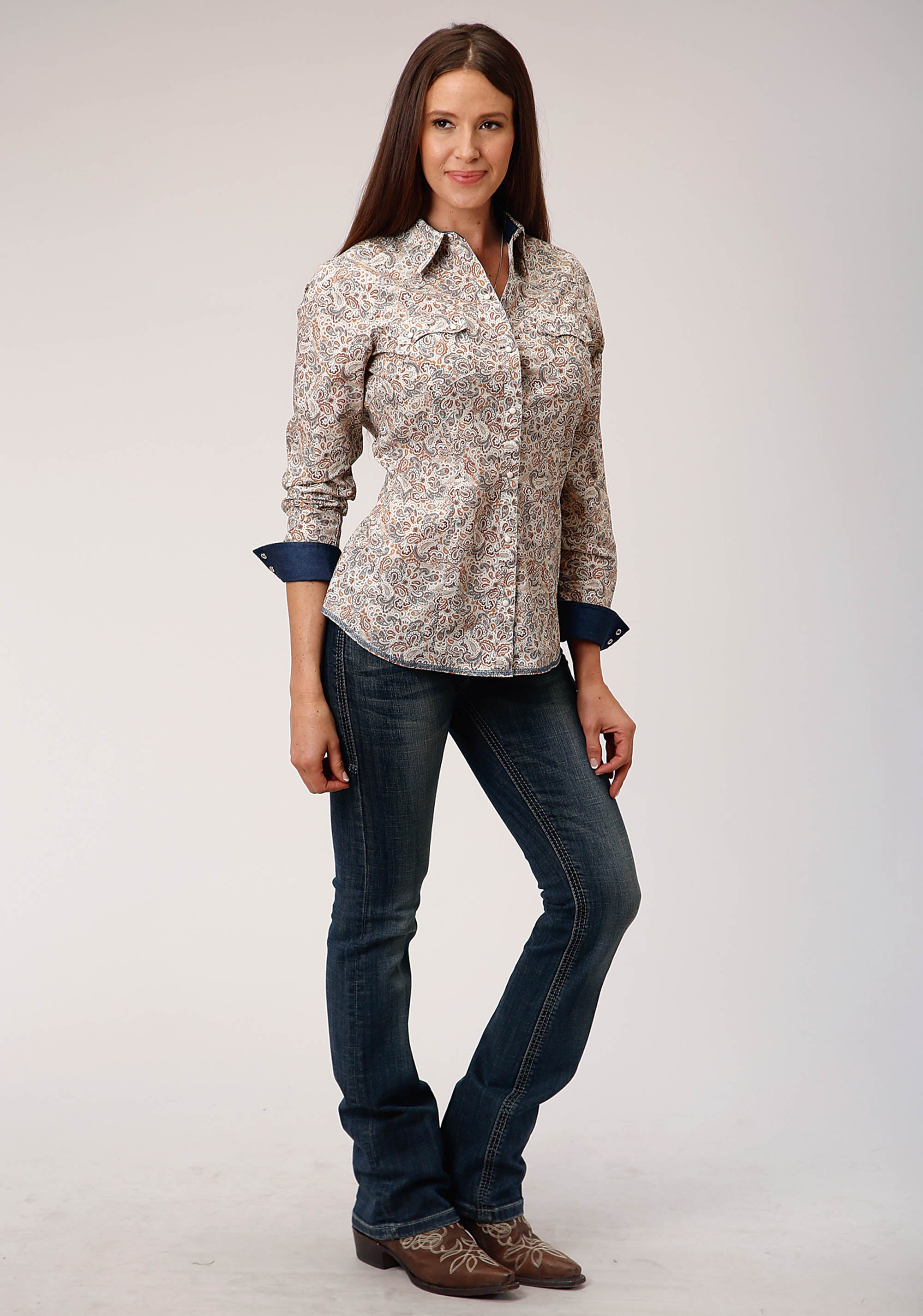 WEST MADE WOMENS BROWN 00319 GRAND DAD'S PAISLEY