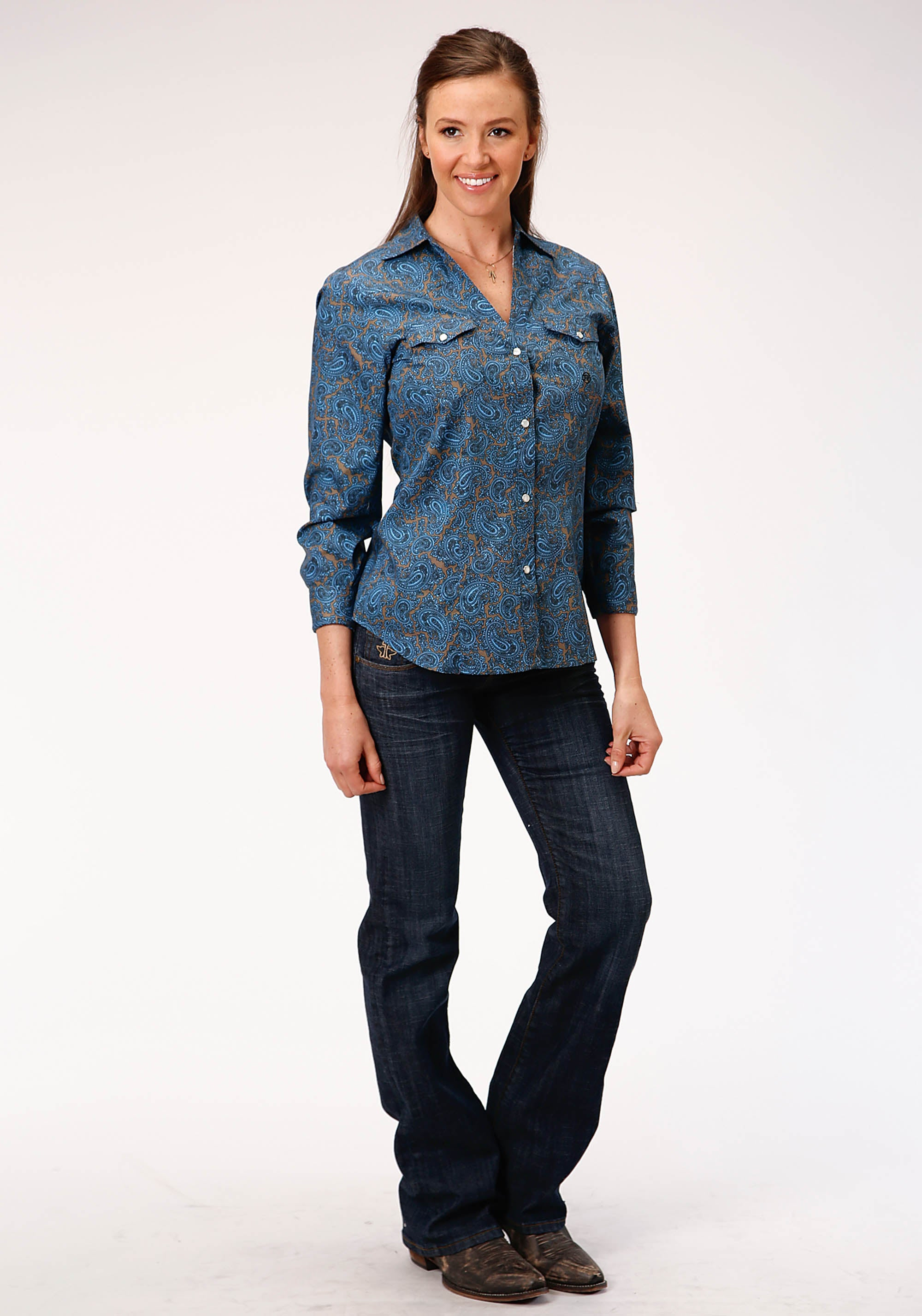 AMARILLO WOMENS BLUE 00267 BLUE PAISLEY CEDAR BROOK