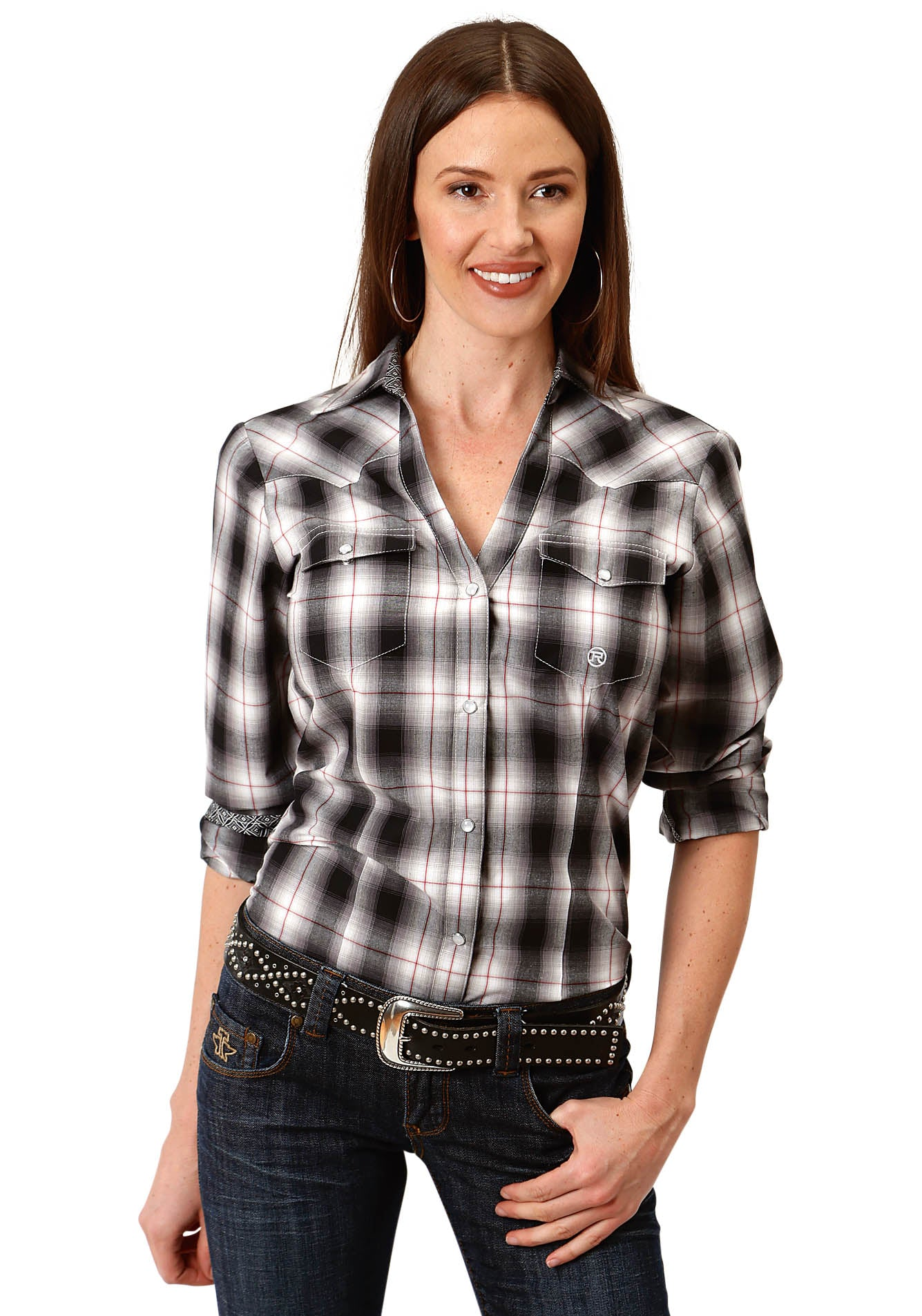 AMARILLO WOMENS BLACK 9615 VINTAGE PLAID CHARCOAL EMBERS