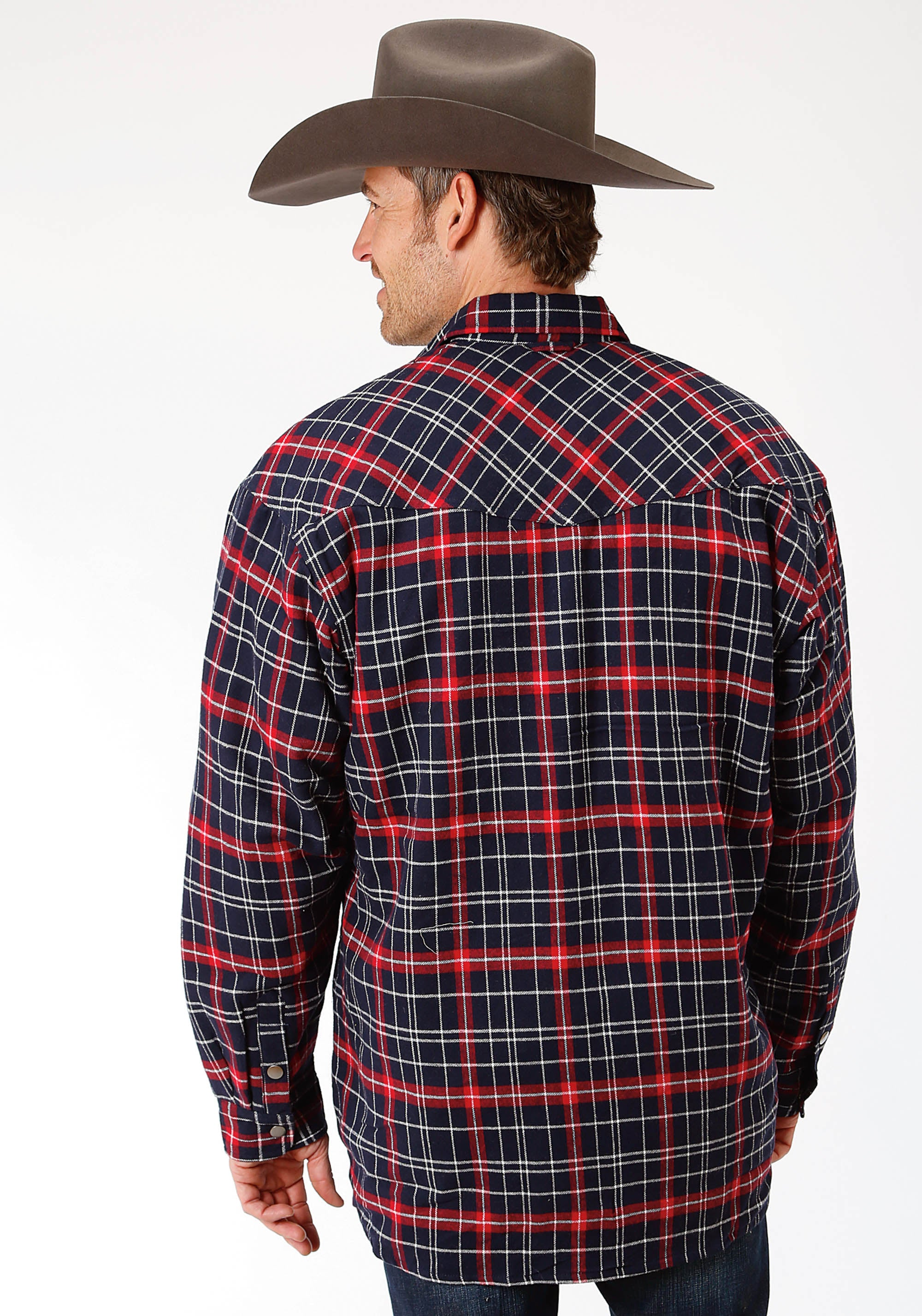 OUTERWEAR MENS RED 9372 RE/NA PLAID SHERPA LINED JCKT PRE-PACK