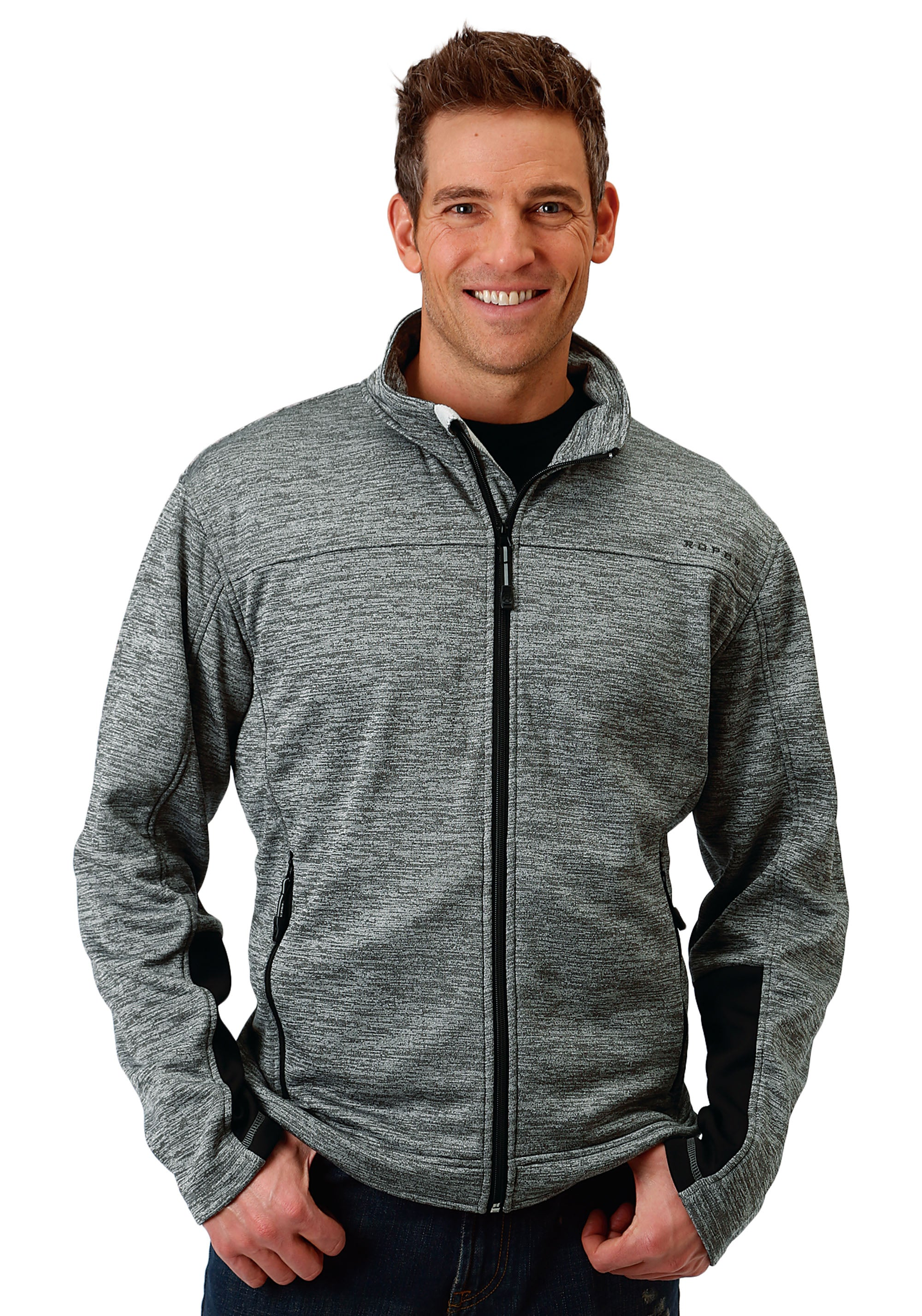 OUTERWEAR MENS GREY 1466 CATIONIC GREY BONDED FLEECE JCKT BONDED GROUP