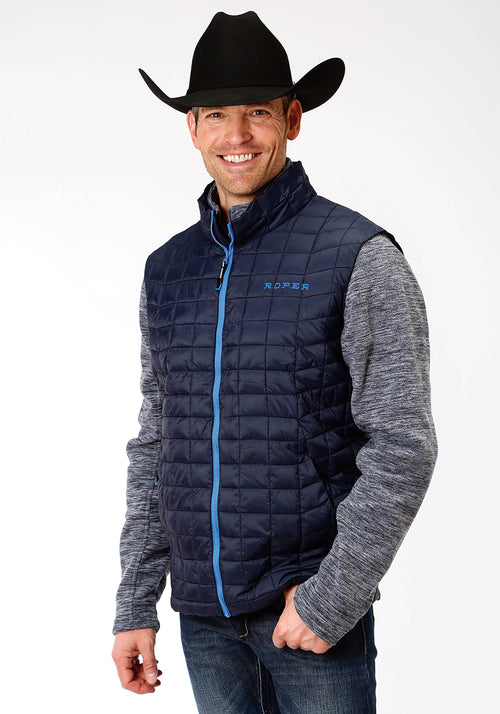 OUTERWEAR MENS NAVY 4043 POLY FILLED NYLON VEST CRUSHABLE