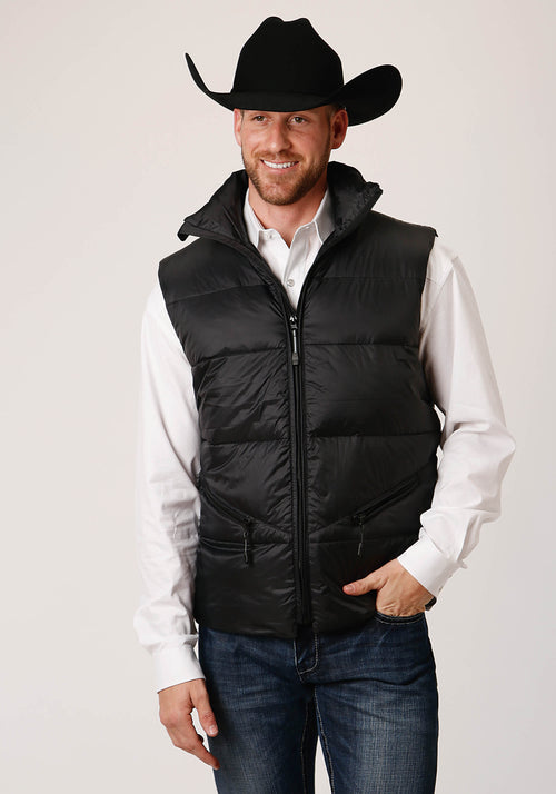 OUTERWEAR MENS BLACK 00535 PARACHUTE DOWN FILLED VEST CRUSHABLE
