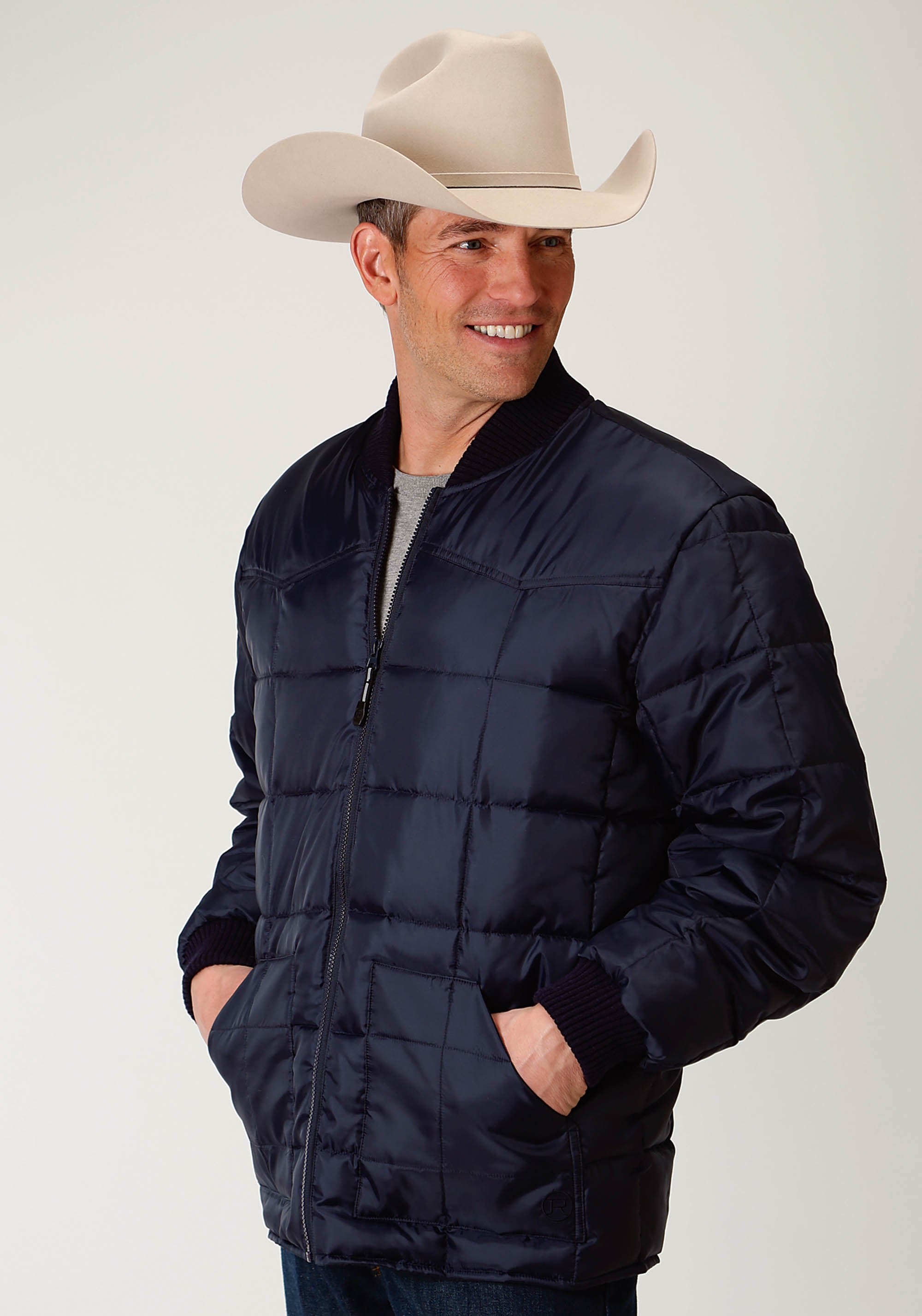 ROPER MENS BLUE 1473 NAVY MEN'S OUTERWEAR OPP OUTERWEAR- MEN'S JACKET