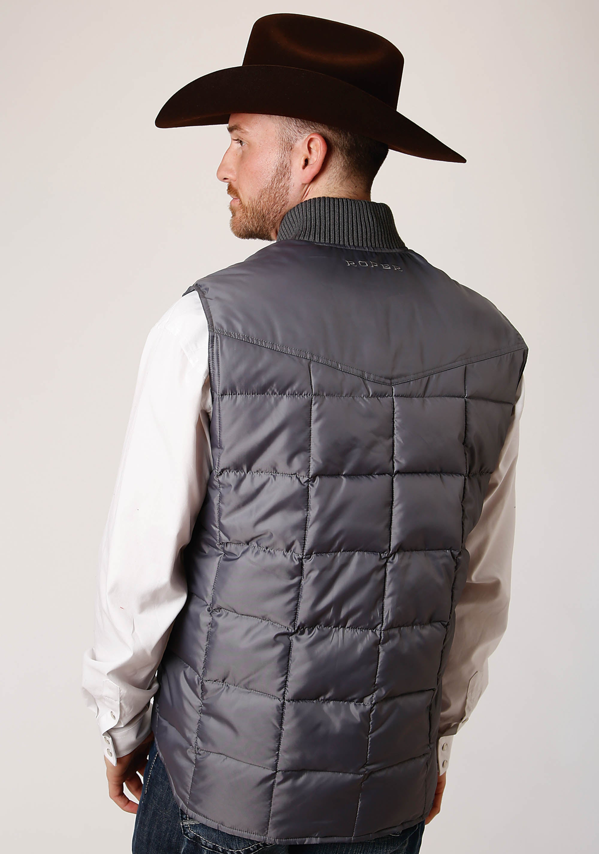 OUTERWEAR MENS GREY 1473 MEN'S QUILTED POLY FILLED VEST OPENING PRICE POINT