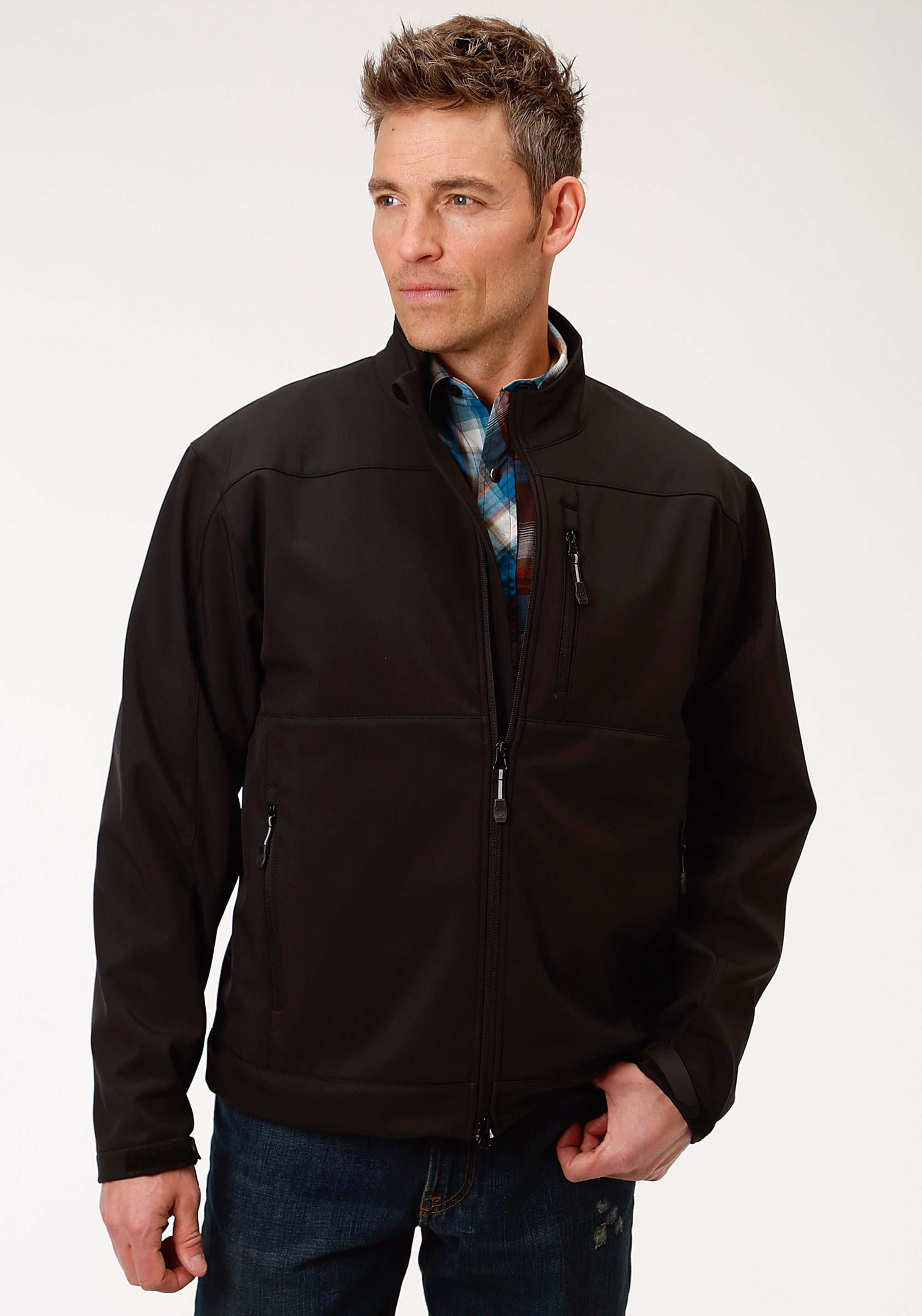 ROPER MENS BLACK 1321 BLACK WITH BLACK FLEECE ROPER OUTERWEAR- MEN'S JACKET