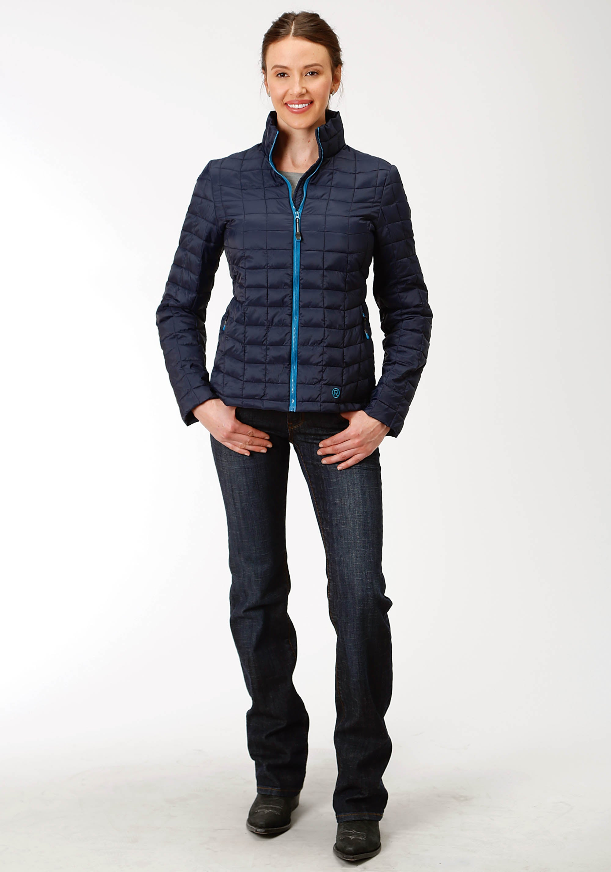 OUTERWEAR WOMENS NAVY 4043 POLY FILLED NYLON JACKET CRUSHABLE