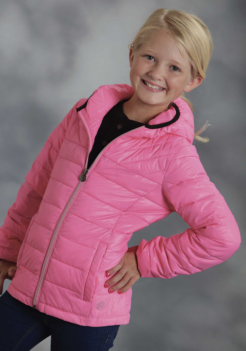 ROPER GIRLS PINK PI PARACHUTE CRUSHABLE JACKET ROPER OUTERWEAR- GIRLS JACKET
