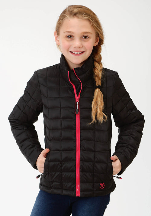 ROPER GIRLS BLACK 4043 BLACK RIPSTOP POLY FILLED JACKET ROPER OUTERWEAR- GIRLS JACKET