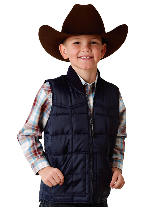 ROPER BOYS BLUE 1473 NAVY BOY'S OUTERWEAR OPP OUTERWEAR- BOYS VEST