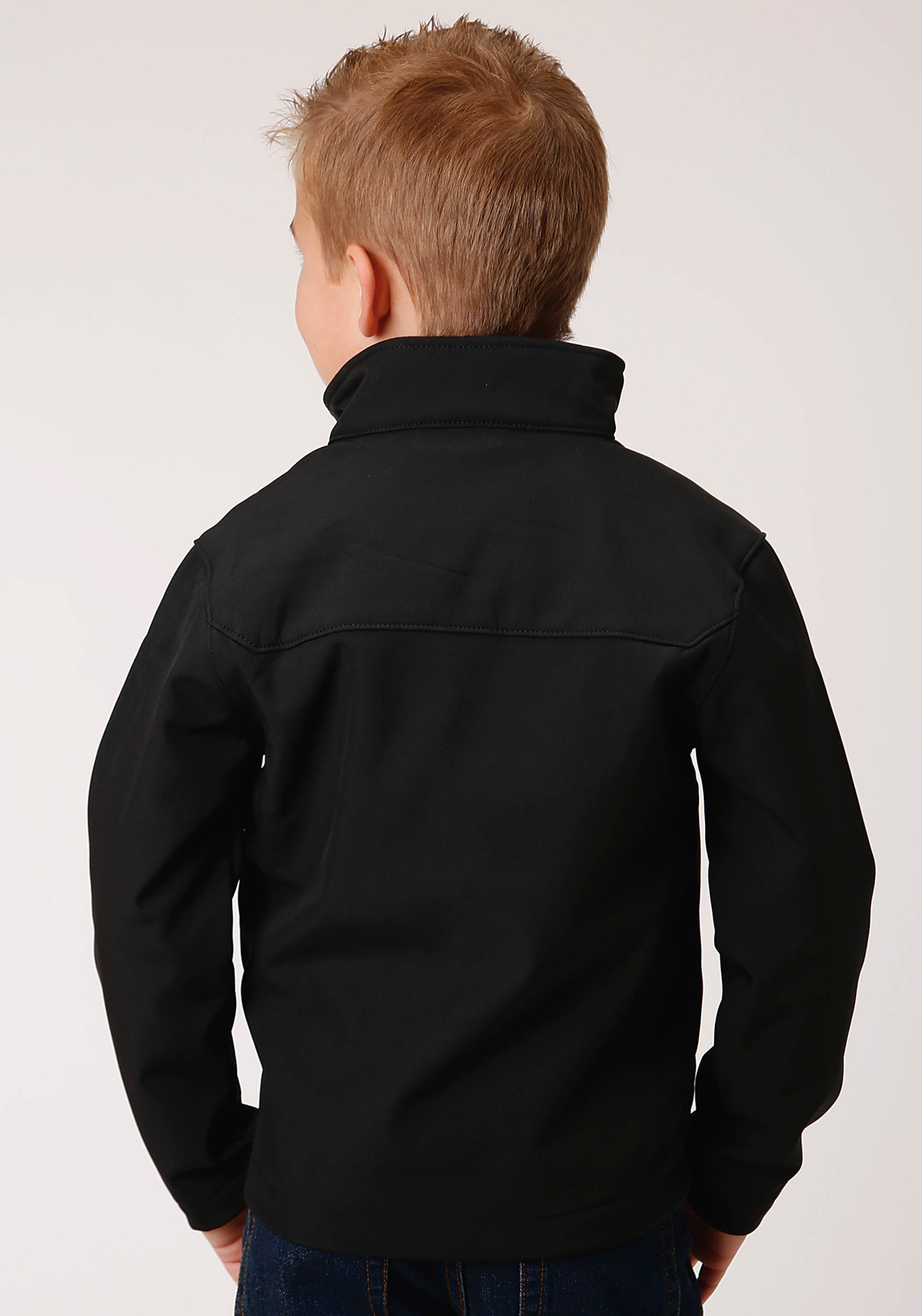 OUTERWEAR BOYS BLACK 00259 BLACK W/BLACK SOFTSHELL JACKET BONDED GROUP