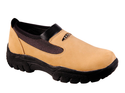 ROPER MENS BROWN CHESTNUT NUBUCK W/NEOPRENE PERFORMANCE SIDE STEP SHOES