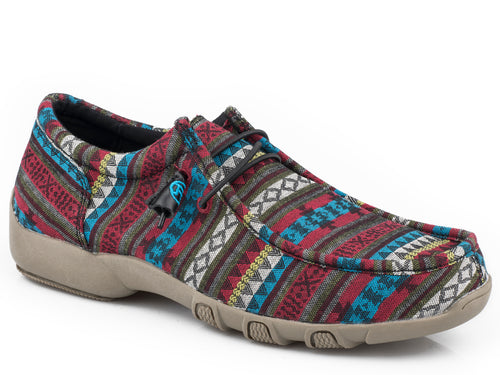 ROPER WOMENS BLUE BLUE AZTEC CANVAS CHILLIN AZTEC CASUAL