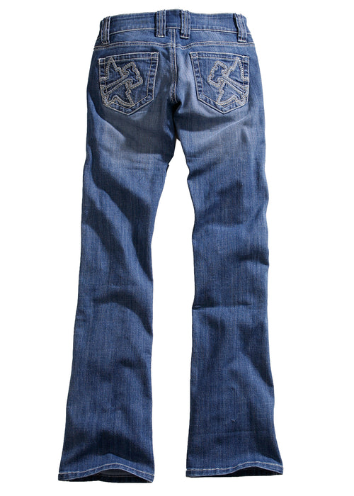 TIN HAUL LADIES BLUE DOLLY CONTRAST WH STITCH W/LOGO OWS TIN HAUL JEANS