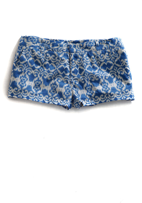 TIN HAUL LADIES BLUE 9264 TAPESTRY IKAT PRINT TIN HAUL COLLECTION SHORTS