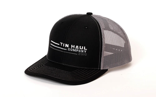 TIN HAUL OTHER BLACK TINHAUL COMPANY W/LINES BLK FRONT PANE TIN HAUL COLLECTION-HATS CAPS