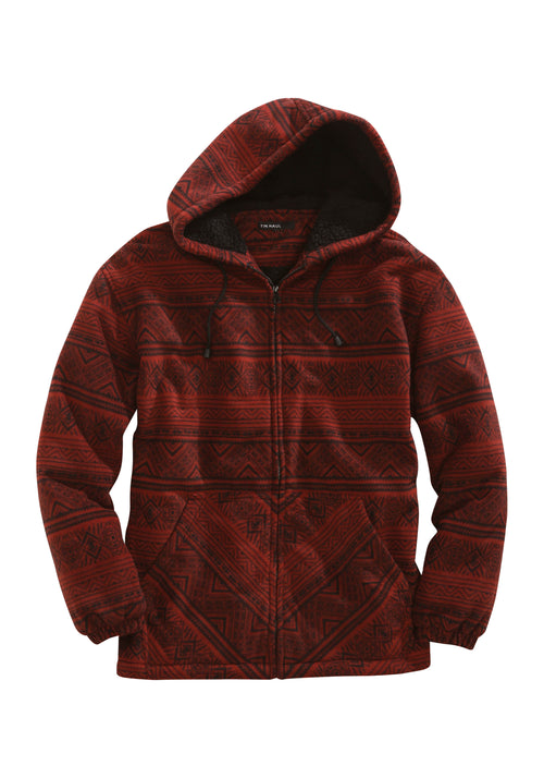 TIN HAUL MENS RED 2430 POLAR FLEECE ZIP FRONT JACKET TIN HAUL OUTERWEAR JACKET