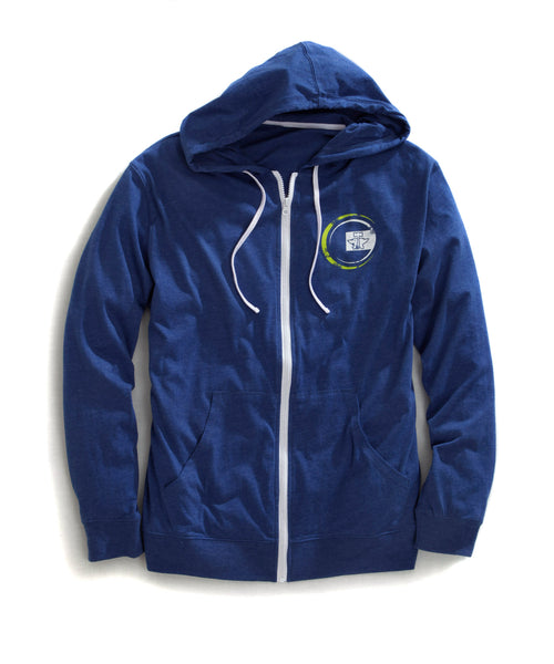 TIN HAUL MENS BLUE 31056 ZIP UP HOODIE FRONT PKTS FUNKY TIN HAUL COLLECTION- FUNKY CIRCLE JACKET