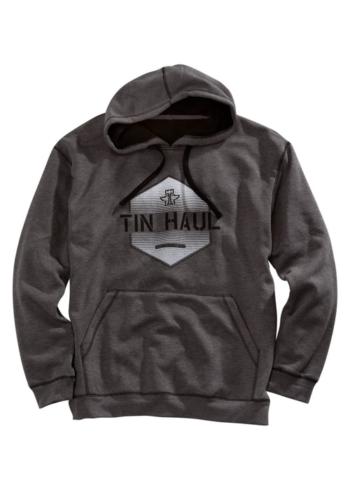 TIN HAUL MENS GREY TIN HAUL HEXAGON SCREEN PRINT TIN HAUL COLLECTION JACKET