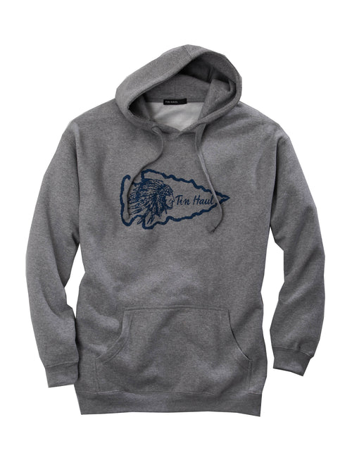 TIN HAUL MENS GREY TIN HAUL INDIAN ARROW HEAD SCREEN PRIN TIN HAUL COLLECTION- SWEATSHIRTS JACKET