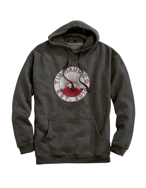TIN HAUL MENS GREY TIN HAUL SUNSET AND MOUNTAIN SCREEN TIN HAUL COLLECTION- SWEATSHIRTS JACKET
