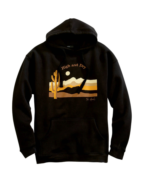 TIN HAUL MENS BLACK TIN HAUL CACTUS AND MOUNTAINS SUNSET TIN HAUL COLLECTION- SWEATSHIRTS JACKET