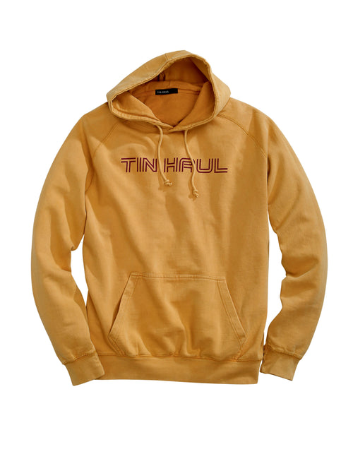 TIN HAUL MENS YELLOW TIN HAUL IN LINE SCRIPT TIN HAUL COLLECTION- SWEATSHIRTS JACKET