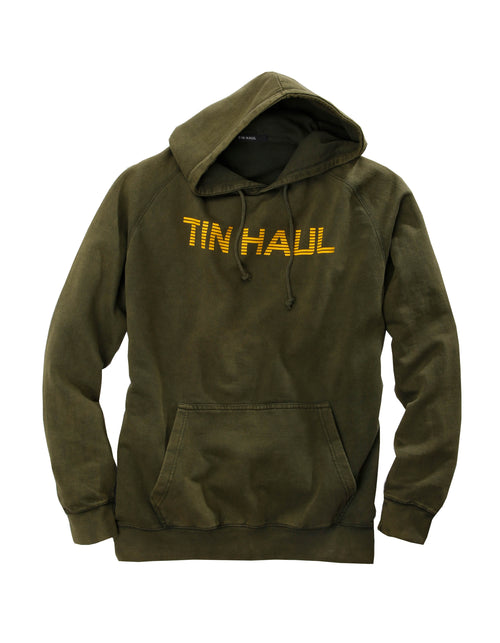 TIN HAUL MENS GREEN TIN HAUL WORDING IN GOLD TIN HAUL COLLECTION- SWEATSHIRTS JACKET