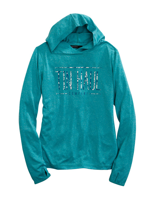 TIN HAUL WOMENS BLUE TIN HAUL COMPANY SCREEN PRINT TIN HAUL COLLECTION SWEATSHIRT