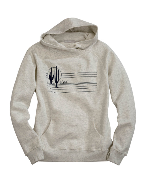 TIN HAUL WOMENS WHITE TIN HAUL CACTUS W/LINES ACROSS CHEST TIN HAUL COLLECTION- SWEATSHIRTS SWEATSHIRT