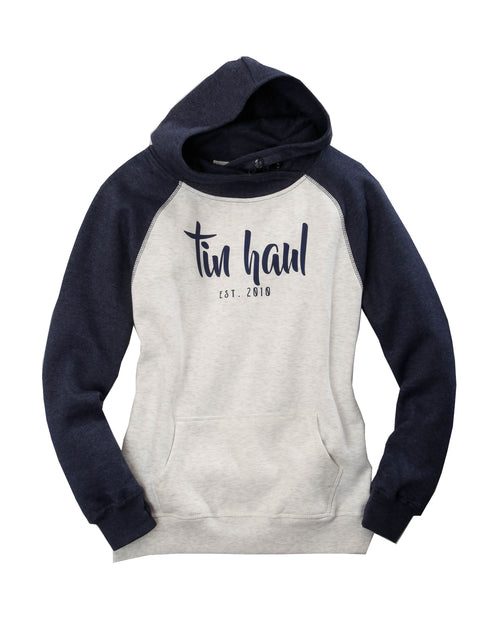 TIN HAUL WOMENS BLUE TIN HAUL SCRIPT EST2010 TIN HAUL COLLECTION- SWEATSHIRTS SWEATSHIRT