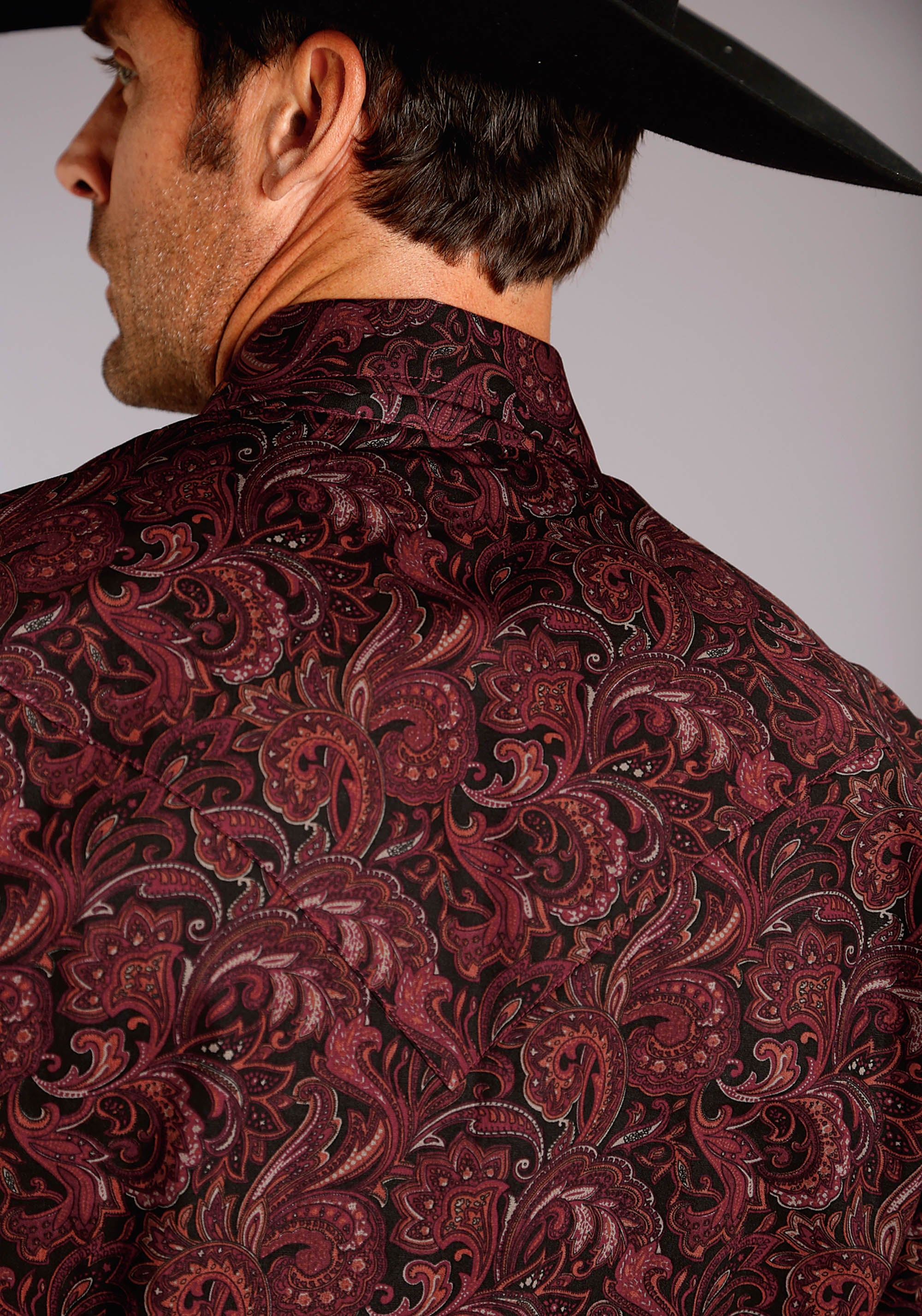 STETSON MENS WINE 2212 WINE PAISLEY GROUP 2