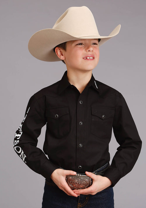 STETSON BOYS BLACK 4296 STETSON LOGO WEAR STETSON BOYS COLLECTION-INSTOCK LONG SLEEVE
