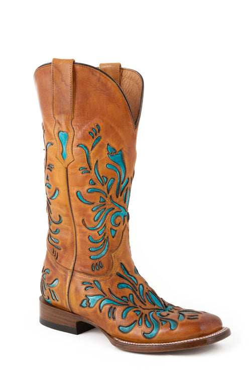 STETSON LADIES BROWN SADDLE BROWN VAMP & SHAFT TALON BOOT