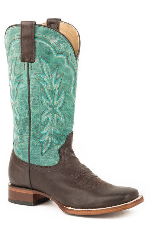 STETSON WOMENS BROWN CHOCOLATE BROWN VAMP JESSICA BOOTS