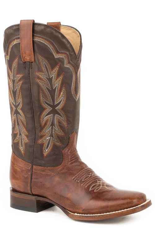 STETSON WOMENS BROWN BURNISHED BROWN VAMP JESSICA BOOTS
