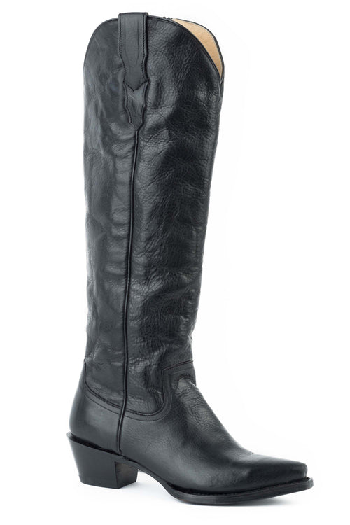 "STETSON WOMENS BLACK BLACK VAMP AND 18"" SHAFT WITH ALL CLASS BOOT"