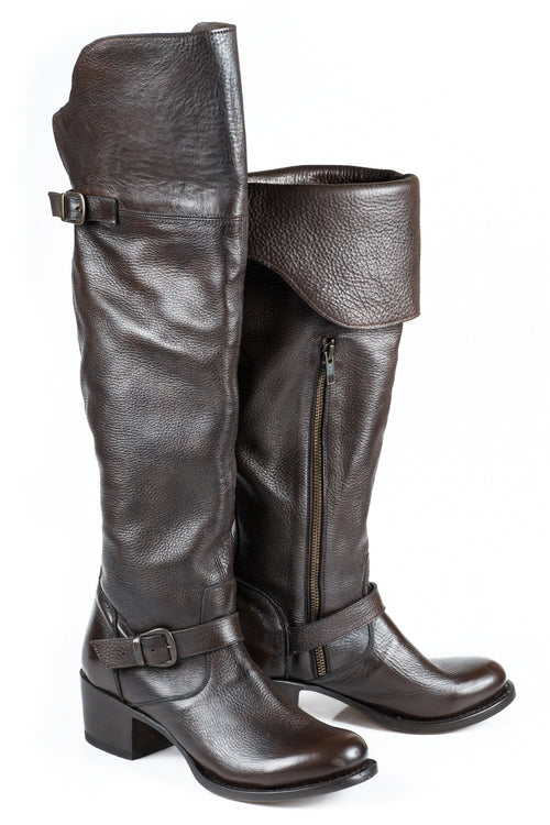 "STETSON LADIES BROWN BROWN VAMP/20""OVER THE KNEE SHAFT BIANCA BOOTS"