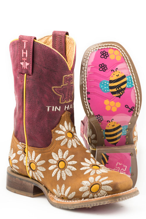TIN HAUL LITTLE KIDS BROWN LIL BLOSSOM LIL BLOSSOM/BUMBLEBEES SOLE BOOTS