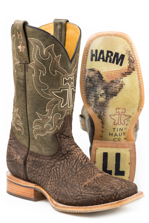 TIN HAUL MENS BROWN TAKE NO BULL TAKE NO BULL / DO NO HARM SOLE BOOTS