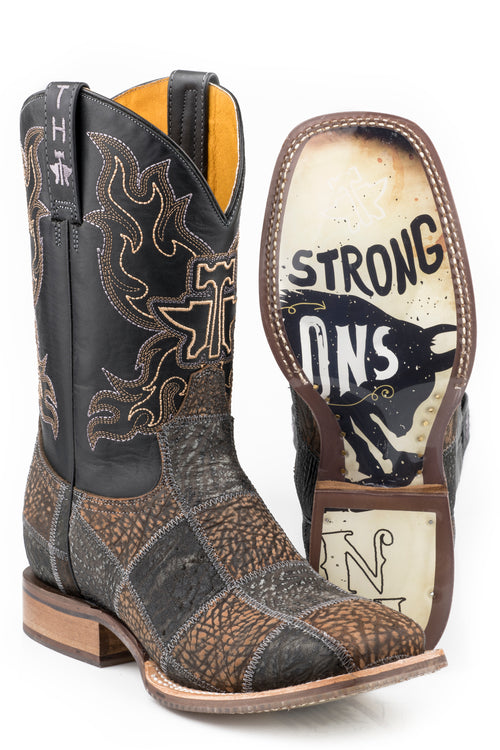 TIN HAUL MENS BLACK NO BULLS--T NO BULLS**T BOOTS