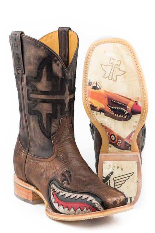 TIN HAUL MENS BROWN WARHAWK WARHAWK BOOTS